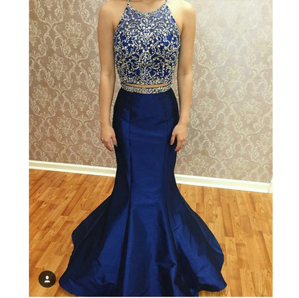 Two Piece Prom Dresses Beaded Bodice pst2027