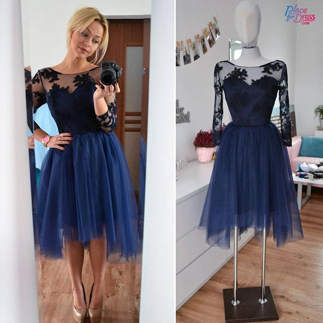 Tulle and Lace Homecoming Dresses pst2028