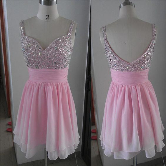Beaded Homecoming Dresses pst2038