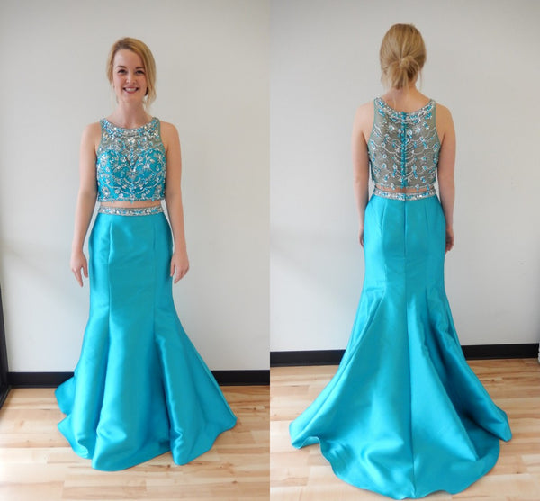 Two Piece Mermaid Prom Dresses pst2041