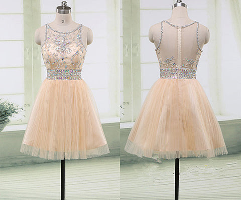 Beaded Homecoming Dresses Graduation Party Dresses pst2054