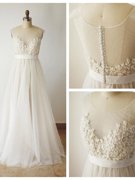 Tulle and Lace Wedding Dress pwd0010