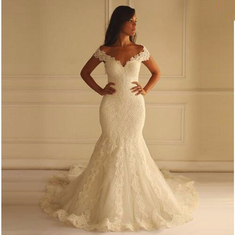 Mermaid Lace Wedding Dresses pwd0021
