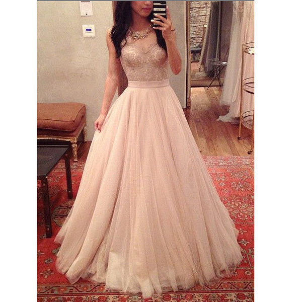 Long Lace and Tulle Homecoming Dresses Celebrity Prom Gowns pst0130
