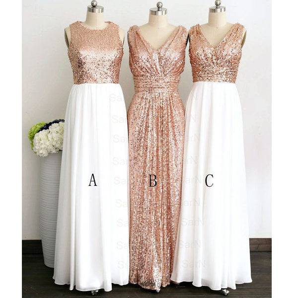 Sheeth Golden Sequins Prom Dresses Evening Gowns pst0141