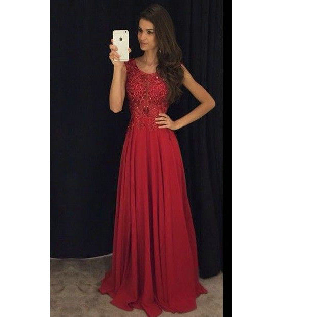 Burgundy Graduation Party Dresses Prom Gowns pst0180
