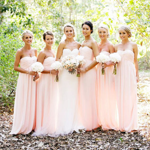 Floor Length Chiffon Bridesmaid Dresses pst0239