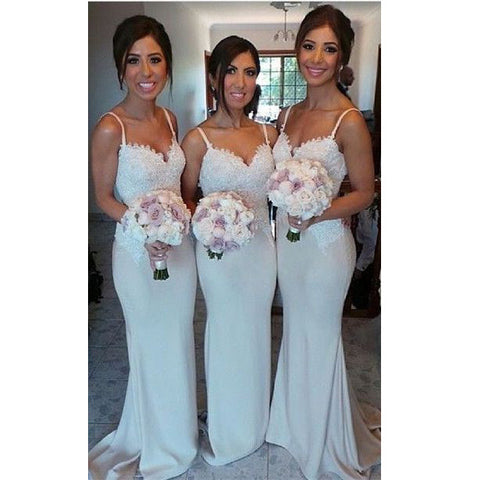 Floor Length Prom Dresses Bridesmaid Dresses Spagetti Straps pst0248