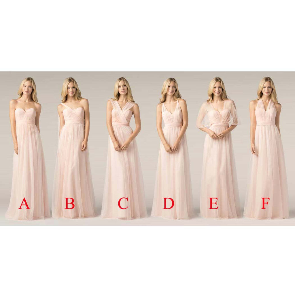 Multi Styles Floor Length Bridesmaid Dresses pst0249
