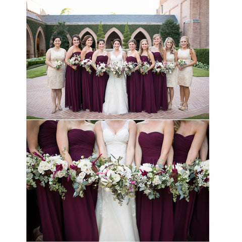 Floor Length Chiffon Bridesmaid Dresses pst0254