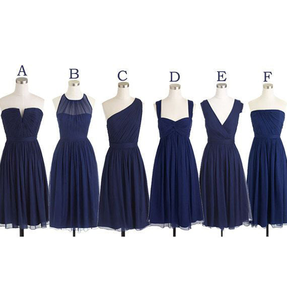 Multi Styles Knee Length Bridesmaid Dresses pst0264