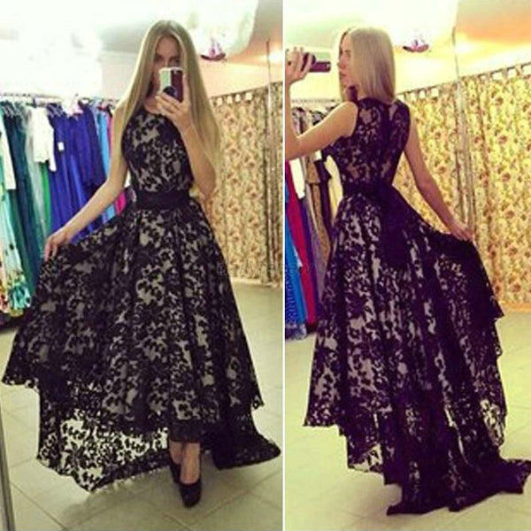 Lace Prom Dresses Floor Length pst0312