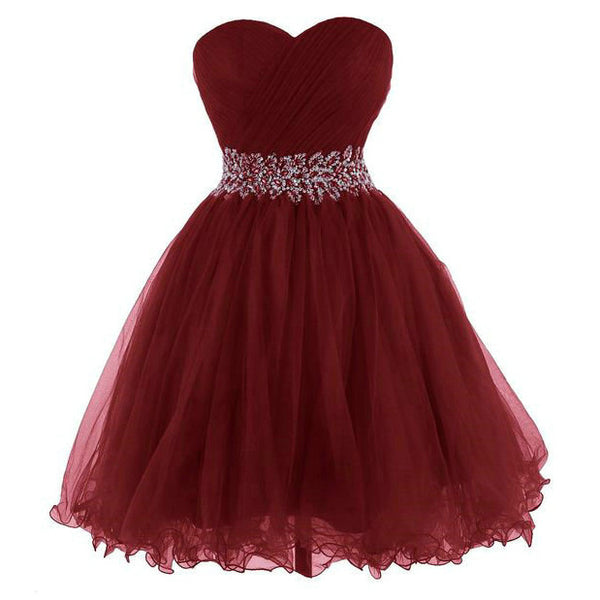 Short Burgundy Prom Dresses Cocktail pst0324
