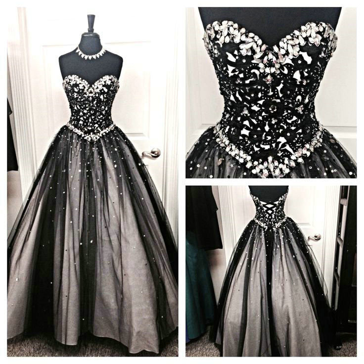Black Prom Dresses Floor Length pst0330