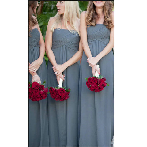 Chiffon Bridesmaid Dresses Floor Length pst0338