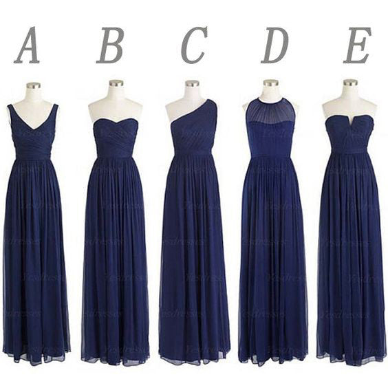 Mismatch Bridesmaid Dresses Floor Length pst0381