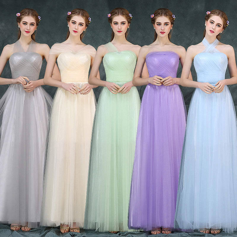 Mismatch Bridesmaid Dresses Floor Length pst0390