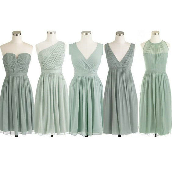Chiffon Short Bridesmaid Dresses pst403