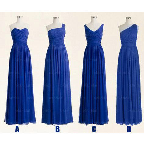 Royal Blue Bridesmaid Dresses Floor Length pst411