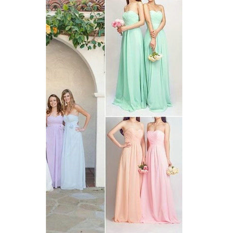 Chiffon Bridesmaid Dresses Floor Length pst413
