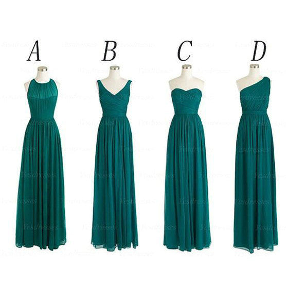 Chiffon Bridesmaid Dresses Floor Length pst416
