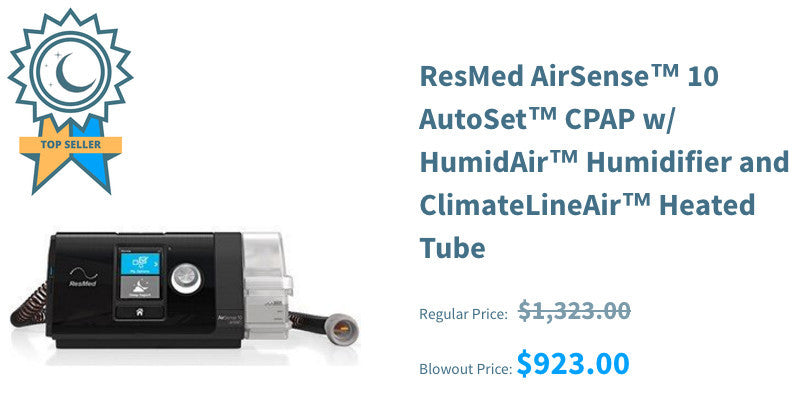 ResMed AirSense 10 AutoSet CPAP w/ HumidAir Humidifier and ClimateLineAir Heated Tube