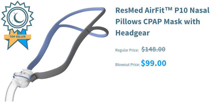 ResMed AirFit™ P10 Nasal Pillows CPAP Mask with Headgear