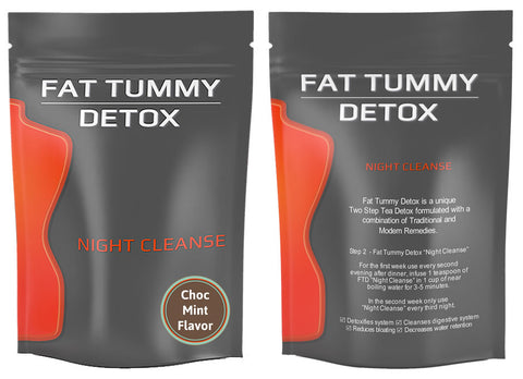 Fat Tummy Detox Night Cleanse = Choc Mint