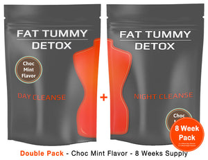 Fat Tummy Detox - Choc Mint - Double Pack - 2 x 4 Week