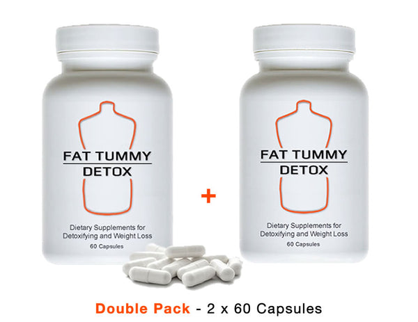 FAT TUMMY DETOX - Double Pack- 2 x 60 Capsules