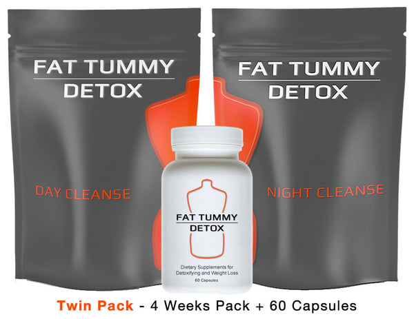 Fat Tummy Detox - Twin Pack - 4 Week Pack + 4 Week Capsules