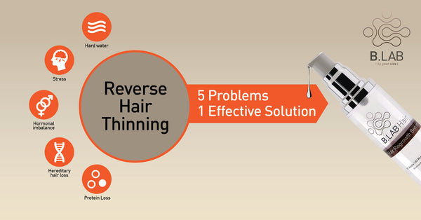 5 Problems. 1 Safe and Effective Solution. The NEW B.LAB Hair Regrowth System