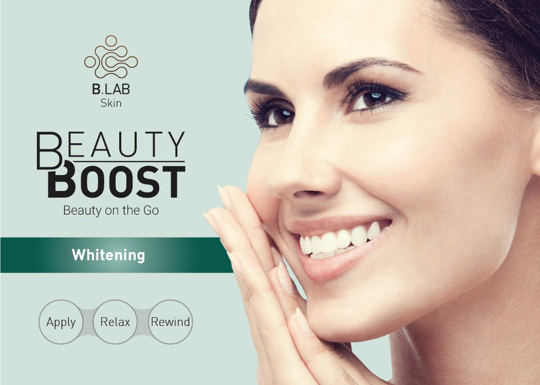 Whitening treatment as is indicated by comparison to the whitening - Beauty Boost Whitening Treatment Pack
