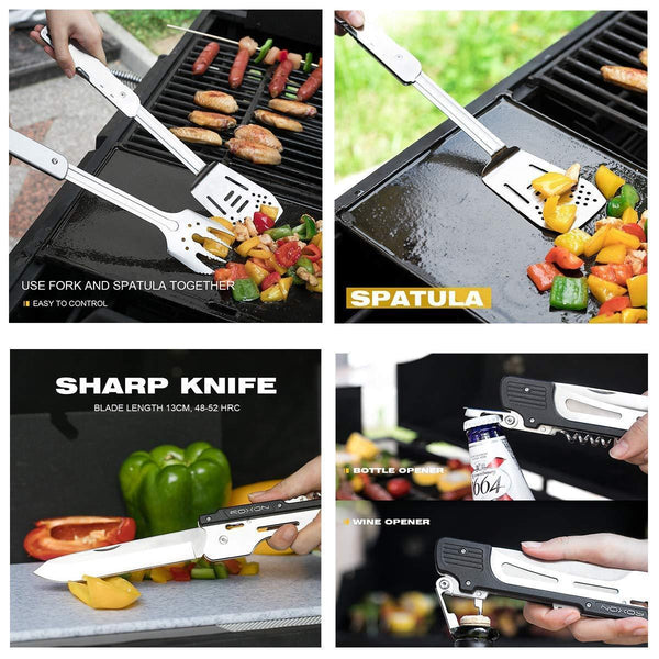 ROXON 6-in-1 Multi BBQ Tool Set S601 MBT3 with Gift Box