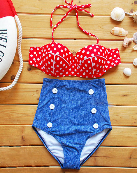 Ретро купальник Pin Up | Retro swimwear Pin Up