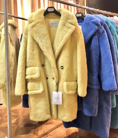 Пальто Teddy bear 2019 | Max Mara teddy coat 2019