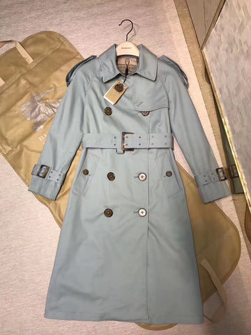 Тренчкот Burberry голубой | Burberry blue Trench