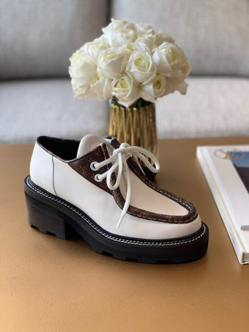 Туфли дерби Louis Vuitton 2019 белые | Derby Louis Vuitton 2019 white