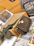Louis Vuitton Multi Pochette хаки | Louis Vuitton Multi Pochette khaki