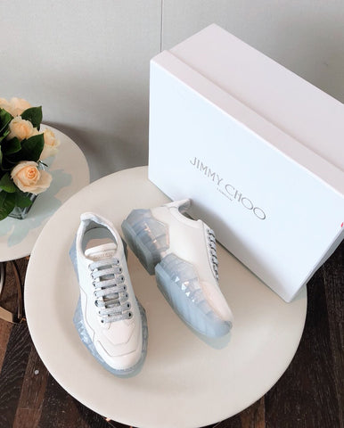 Кроссовки Jimmy Choo белые 2019 | Sneakers Jimmy Choo white 2019