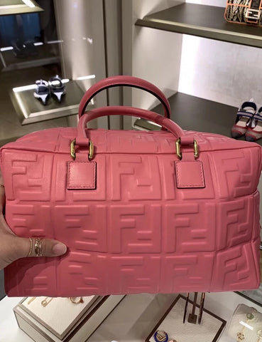 Сумка Fendi Boston розовая | Fendi Boston pink bag