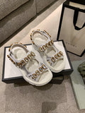 Сандалии Gucci 2019 с декором | Gucci sandals 2019 with decor