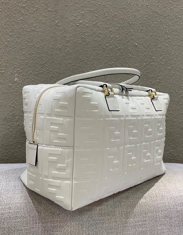 Сумка Fendi Boston белая | Fendi Boston white bag