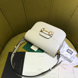 Сумка Gucci Horsebit 1955 белая |  Gucci Horsebit 1955 bag white