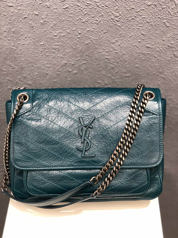 Сумка Saint Laurent Niki бирюза | Saint Laurent Niki turquoise bag