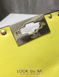 Сумка Valentino Rockstud Spike Mini лимонная | Valentino Rockstud Spike Mini Lemon Bag