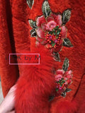 Меховое пальто Gucci с вышивкой | Gucci fur coat with embroidery