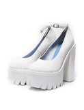 Туфли Jeffrey Campbell белые с застежкой | Jeffrey Campbell white pumps