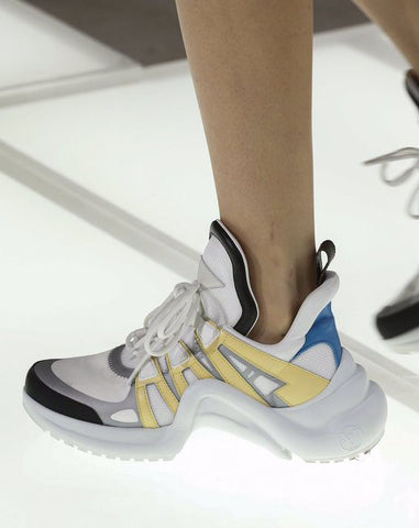 Louis Vuitton ARCHLIGHT бело-желтые  | LV ARCHLIGHT SNEAKERS YELLOW