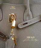 Сумка Hermes Birkin серая | Hermes Birkin Bag gray